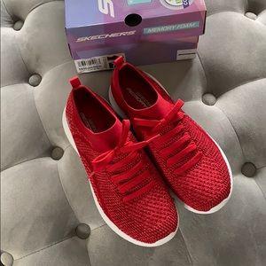 NWT- Sketchers Memory Foam Sneakers Red 7.5.